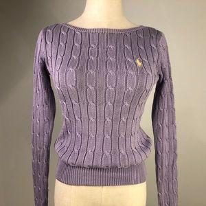 Mint Ralph Lauren Violet Cable Knit Pullover